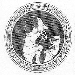 Caricatura en kylix ática v a.c. musvat