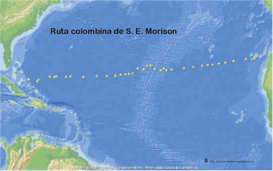 Ruta colombina de S.E. Morison