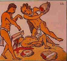 Lapidación por adulterio ( Fuente: J.L. Rojas, Los aztecas, col. biblioteca iberoamericana, Anaya, Madrid, 1988, p. 53)