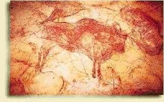 Detalle de las pinturas de la cueva de Altamira