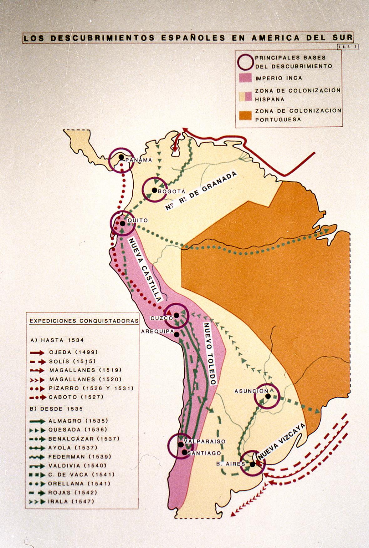 Descubrimientos españoles América del sur